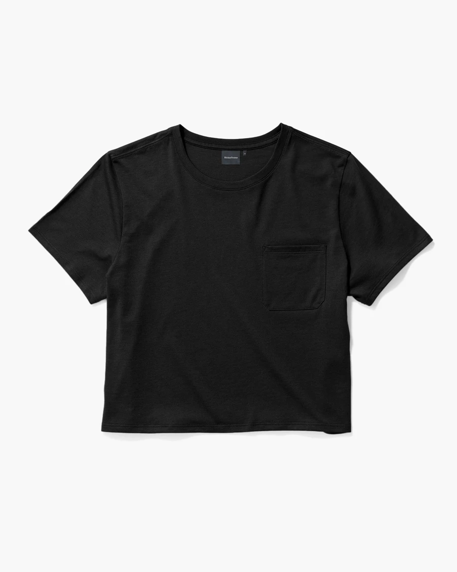 Boxy Crop Tee - Black