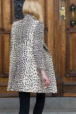 Load image into Gallery viewer, Wingtip Coat - Leopard