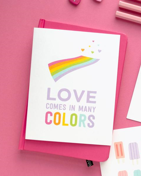 Love Comes in Many Colors - Greeting Card