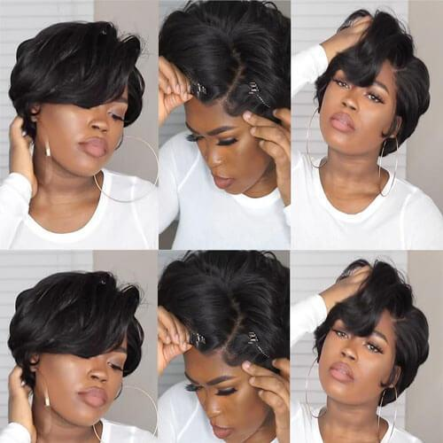 Celebrity Style Pixie Short Cut Bob WIG-140%(Extra Thick As In Video)