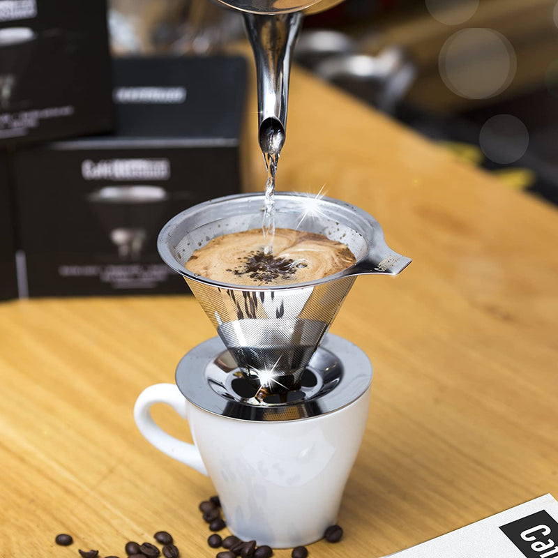 Cafellissimo Paperless Pour Over Coffee Dripper - Stainless Steel-Cafe-llissimo
