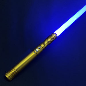 2 Lightsabers RGB Force FX Heavy Dueling Color Changing Metal Handle Light Saber
