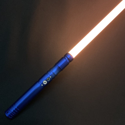 Lightsaber RGB Force FX Heavy Dueling Color Changing Blue Metal Handle Light Saber