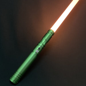 3 Green Handle Lightsaber RGB Force FX Heavy Dueling 11 Changing Colors Metal Handle Light Saber
