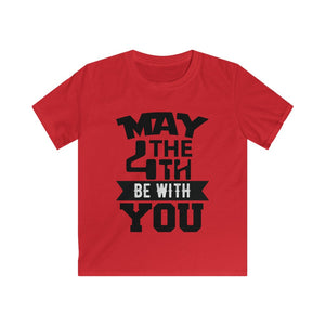 Kids Softstyle Tee MAY THE 4TH BE WITH YOU