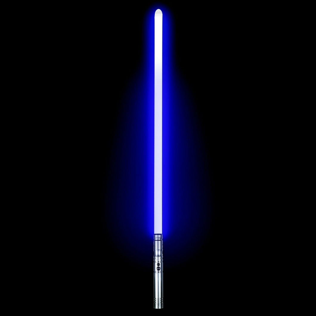3 Lightsabers for a Double-bladed Style RGB Force FX Heavy Dueling with 11 Blade LED Colors Metal Handle Light Saber for sale