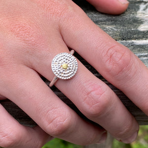 Gold Dot Mandala Ring