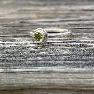 silver, ring, gemstone, peridot