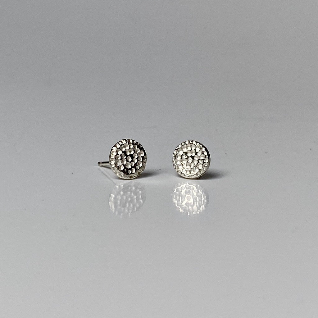 silver, studs, earrings, mandala