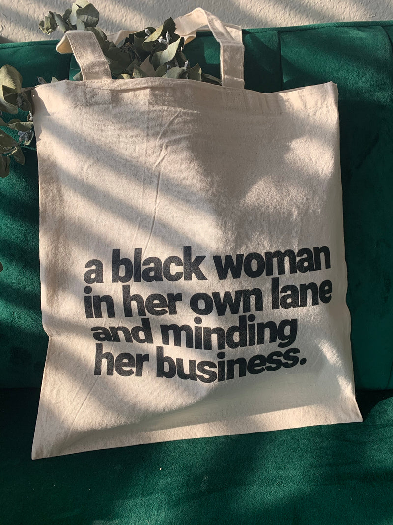 The 'Black Woman' Tote Bag.
