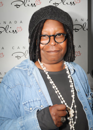 Whoopi Goldberg in Canada Bliss hat designed by Karen Viloria-Miguel