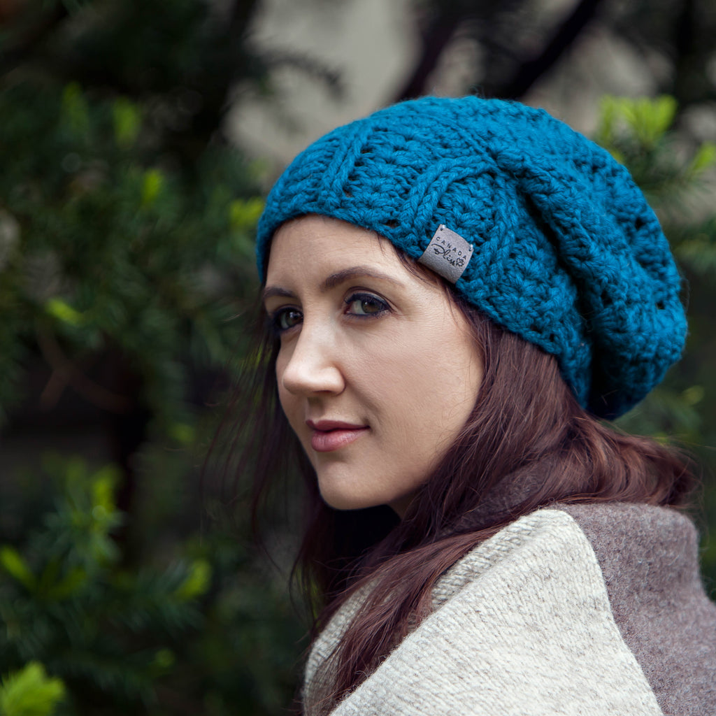Cherish Hat | Teal | Baby Alpaca