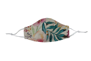 Canada Bliss Paradise NEW ADJUSTABLE Face Mask #138 | One of a Kind Washable, Reusable, Double-Layer, Handmade Premium Linen & Cotton | Paradise Collection