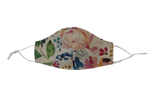 Canada Bliss Paradise NEW ADJUSTABLE Face Mask #139 | One of a Kind Washable, Reusable, Double-Layer, Handmade Premium Linen & Cotton | Paradise Collection