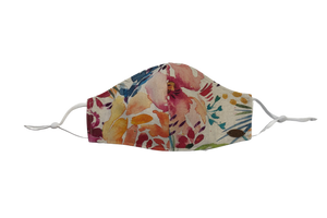 Canada Bliss Paradise NEW ADJUSTABLE Face Mask #141 | One of a Kind Washable, Reusable, Double-Layer, Handmade Premium Linen & Cotton | Paradise Collection