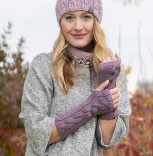 *NEW ARRIVAL* Decadent Fingerless Gloves | Knit Baby Alpaca Handwarmers | Rose