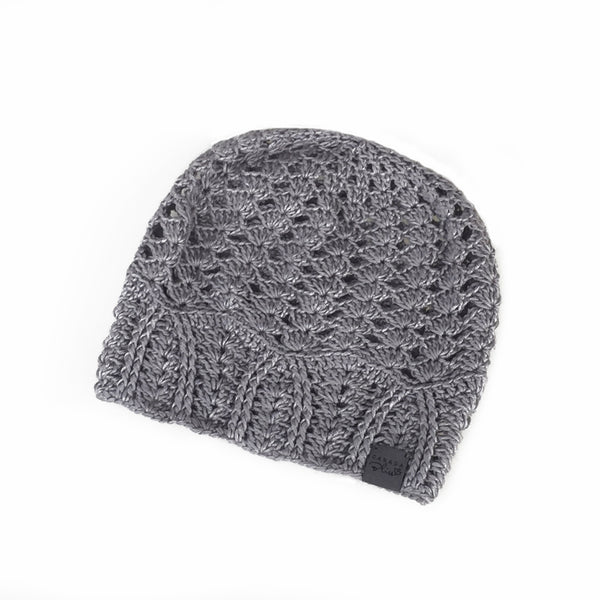 Light Grey Cherish Bamboo Lightweight Hat Crochet Knit Hat Canada Bliss Hot Accessories Celebrity Fashion Style Beanie Spring Summer Fall Winter Fashion