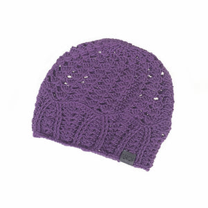 Purple Cherish Bamboo Lightweight Hat Crochet Knit Hat Canada Bliss Hot Accessories Celebrity Fashion Style Beanie Spring Summer Fall Winter Fashion