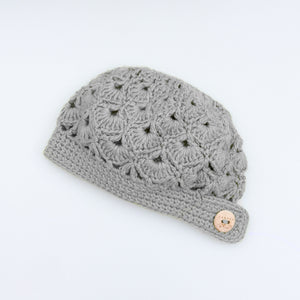 Blithe Cloche Style Hat | Merino Wool Crochet Knit Hat | Beanie Fall Winter Fashion