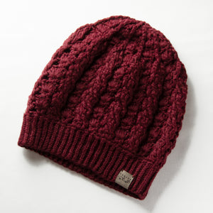 Burgundy Dreams Pom Pom Hat Baby Alpaca Crochet Knit Hat Canada Bliss Hot Accessories Celebrity Fashion Style Beanie Fall Winter Fashion