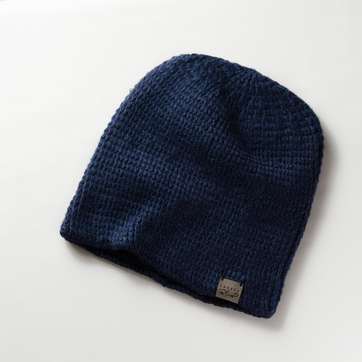 Fundamental Pom Pom Hat Toque | Dark Navy Alpaca | Fur Pom Pom