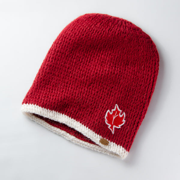 Canada Bliss™ Kids Tribute Fundamental Hat | Red & White Leaf | Baby Alpaca