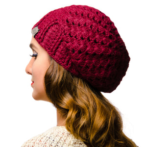 Canada Bliss Handmade Burgundy Cherish Hat in Baby Alpaca