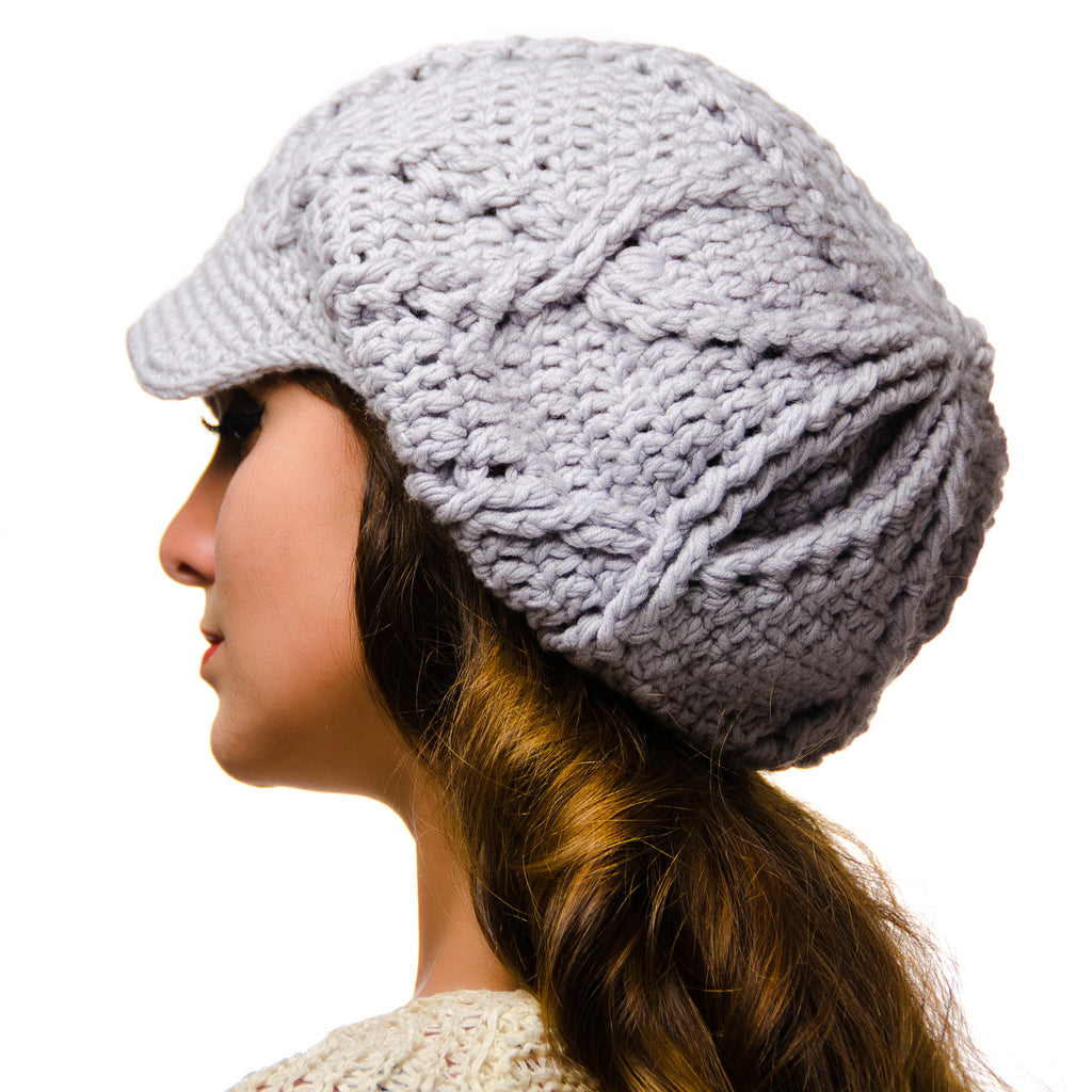 Canada Bliss Handmade Ethereal Hat in Merino, Silver