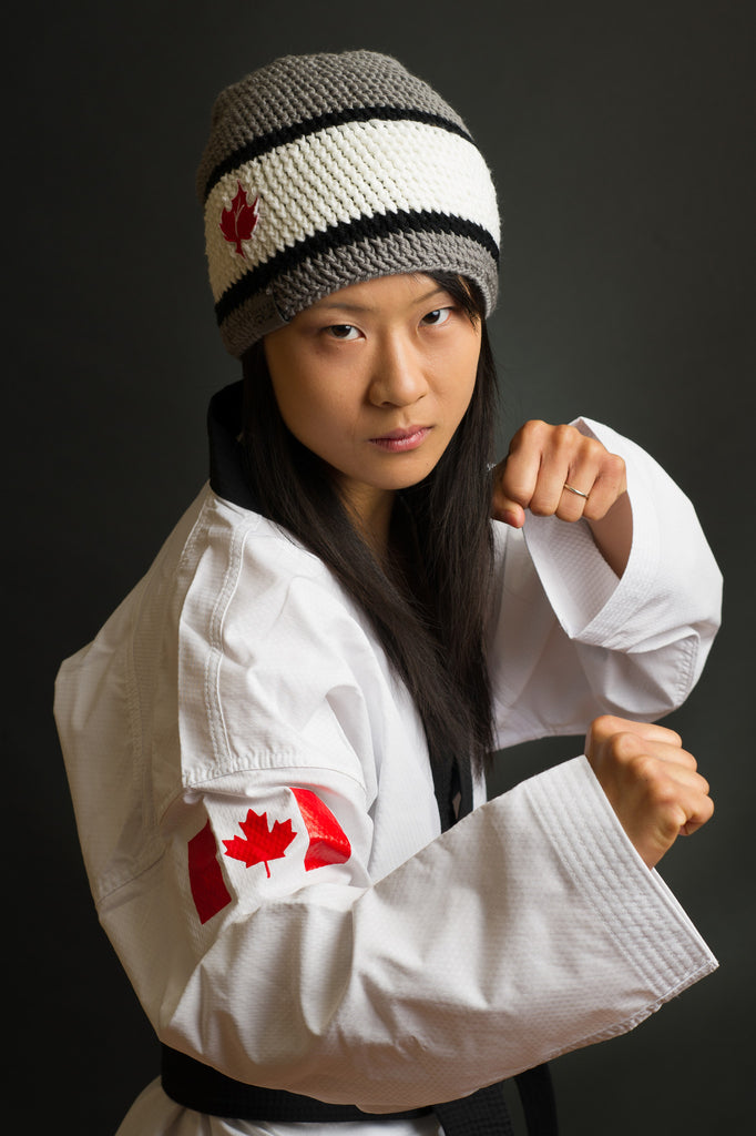 Yvette Yong Canada Bliss Tribute Hat toque Pan Am Games Team Canada