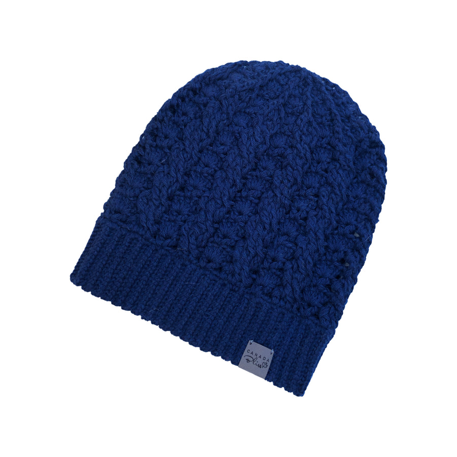 *NEWLY RESTOCKED* Dreams Pom Pom Hat | *NEW* Deep Navy Blue Baby Alpaca | Fur Pom Pom Hat