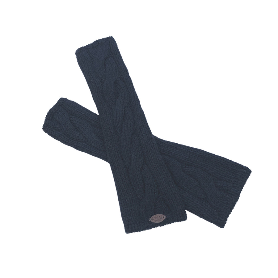 *NEW ARRIVAL* Decadent Fingerless Gloves | Knit Baby Alpaca Handwarmers | Black