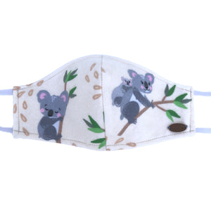 Canada Bliss Face Mask | Washable, Reusable, Double-Layer, Handmade Premium Cotton Flannel | Koala Friends