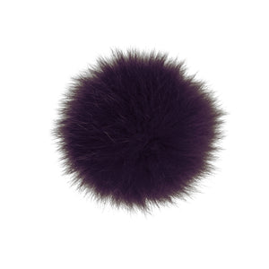 Burgundy Fox Fur Pom Pom Hat Crochet Knit Hat Canada Bliss Hot Accessories Celebrity Fashion Style Beanie Fall Winter Fashion