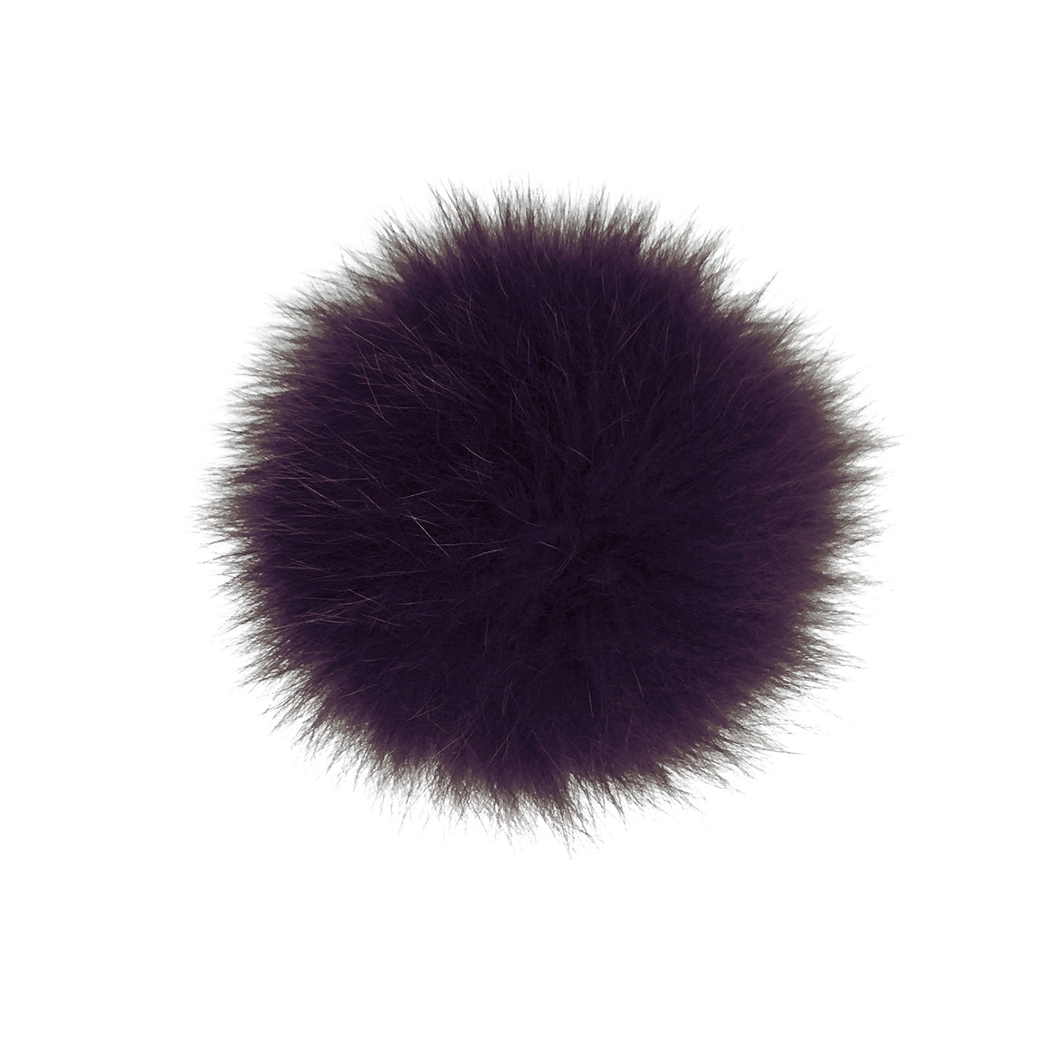 Fundamental Pom Pom Hat Toque | Burgundy Alpaca | Fur Pom Pom
