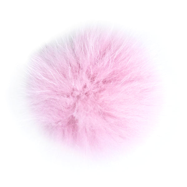 Rose Pink Fox Fur Pom Pom Option | Alternate Pom Pom | Replacement Pom Pom on Canada Bliss® Hats