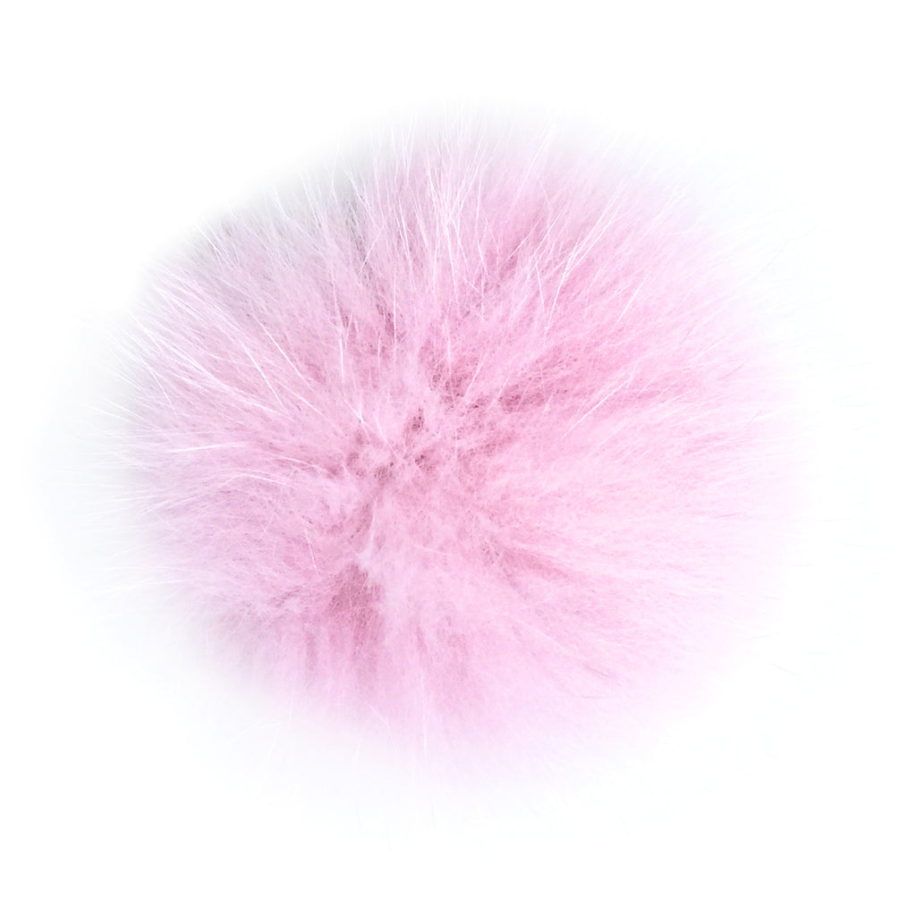 Pink Fox Fur Pom Pom Hat Crochet Knit Hat Canada Bliss Hot Accessories Celebrity Fashion Style Beanie Fall Winter Fashion