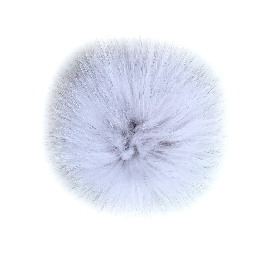 Fundamental Pom Pom Hat Toque | Grey Alpaca | Fur Pom Pom