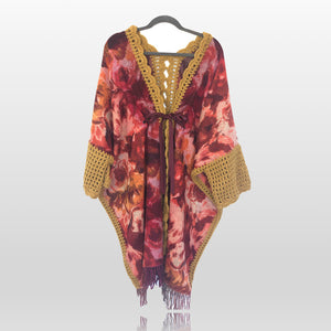 NEW Canada Bliss Crochet Kimono Duster | Crimson Mustard Garden