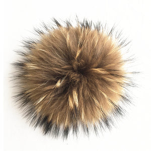 Fundamental Pom Pom Hat Toque | Dark Taupe Alpaca | Fur Pom Pom