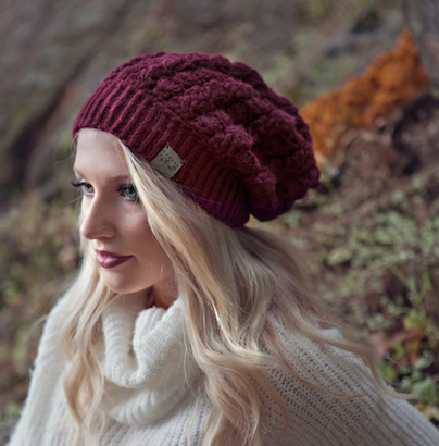 Dreams Hat | Burgundy | Baby Alpaca