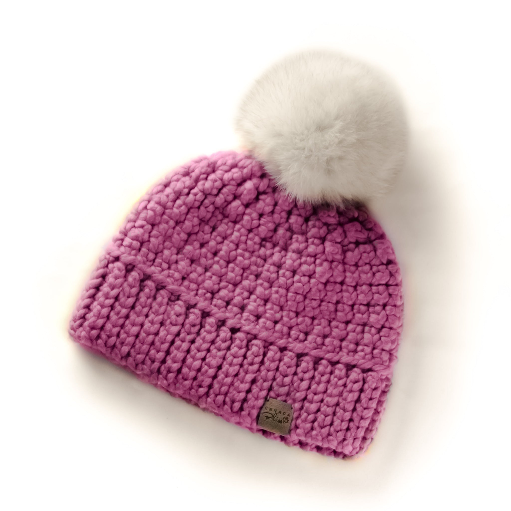 2b58646c0a5c5 Plum Signature Pom Pom Hat Merino Wool Crochet Knit Hat Canada Bliss Hot  Accessories Celebrity Fashion