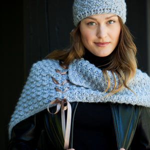Bijou Caplet Cowl | Hand made alpaca with satin ribbon
