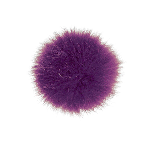 Burgundy Fox Fur Pom Pom Option | Alternate Pom Pom | Replacement Pom Pom on Canada Bliss® Hats