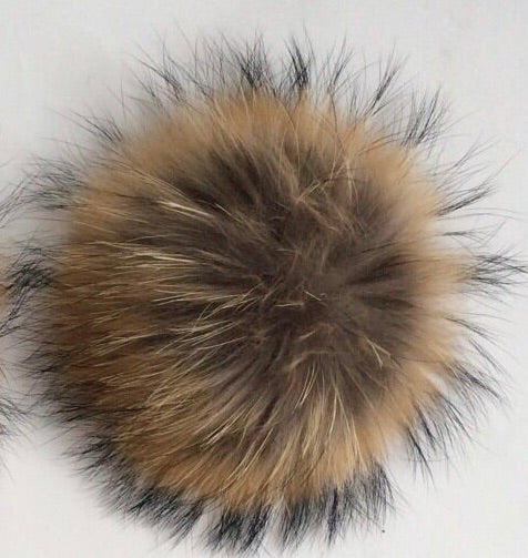 Raccoon Pom Pom Option | Alternate Pom Pom | Replacement Pom Pom on Canada Bliss® Hats