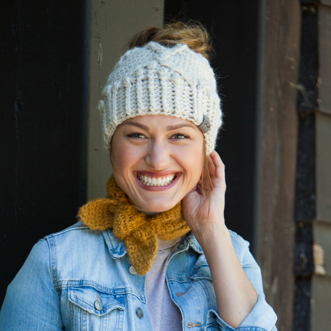 Messy Bun Hat | Hand Made Alpaca