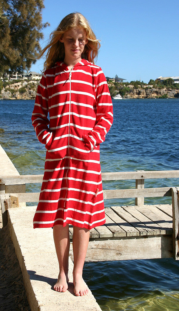 organic towelling beach robe