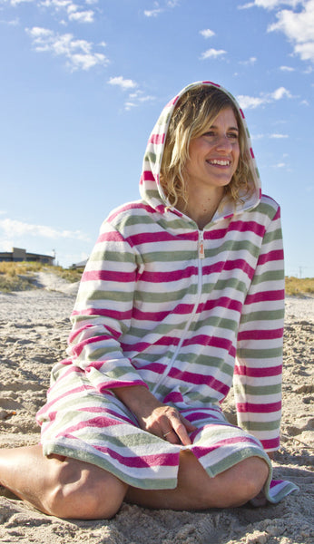 Beautiful organic towelling beach robes