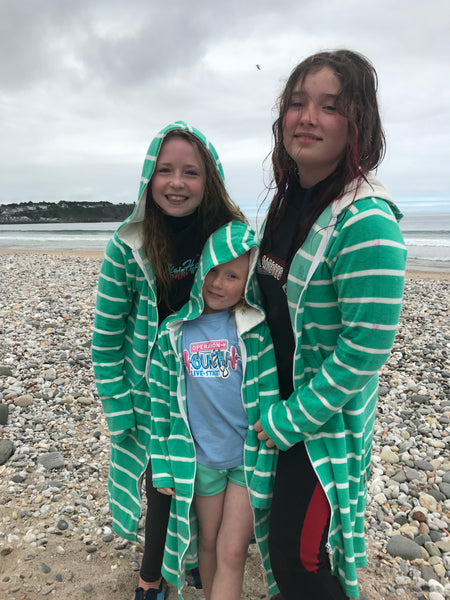 NEW COLOUR FOR 2018 Ladies Sea Green Stripe Beach Robe