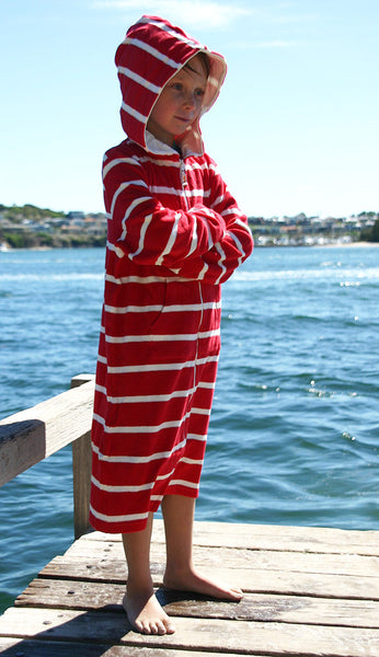 kids towelling beach robes