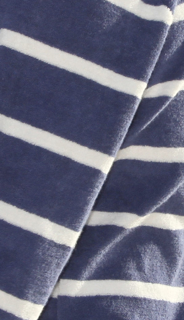 Denim Stripe beach robe